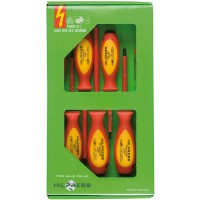 Screwdriver Assortments in environmentally friendly cardboard box, 7 pieces