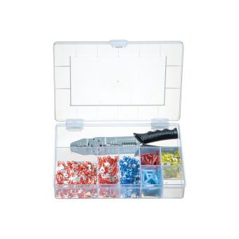 Sortimentskasten mit Presswerkzeug und isolierten Kabelschuhen