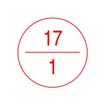 Stromkreisbezeichnungsschild, Stromkreis-Nr. 17