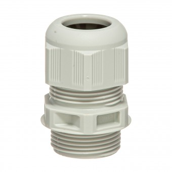 HILPRESS-METEX® Cable Screw Glands, with stress relief, grey, M 32 x 1,5 PA
